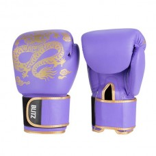 Blitz - Warrior Muay Thai Leather Boxing Gloves, purppura