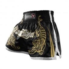 Hayabusa - Premium Muay Thai Shorts, musta
