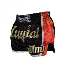 Lumpinee - Muay Thai Shorts, musta-punainen