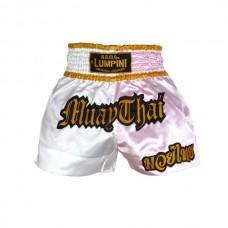 Lumpini - Muay Thai Shorts, valkoinen-pinkki