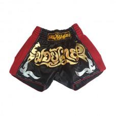 Muaythai - Muay Thai Shorts v.2, musta/punainen