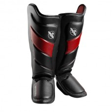 Hayabusa - T3 Striking Shinguards, musta/punainen