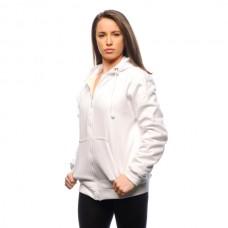 BladeRunner - Naisten viiltosuojattu huppari, valkoinen
