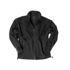 Mil-Tec - Fleece Jacket M. R/S Patch, musta